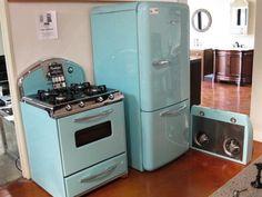 Northstar Retro 1950's Kitchen Set - Robin's Egg Blue how. cute!
