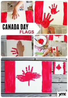 Make These Adorable Handprint Placemats for Canada Day - Handprint Canada Day Flag Placemats and Coasters