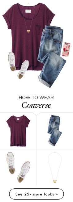 """""""We get to go to a play today at school!??"""" by savanahe on Polyvore featuring rag & bone, Wrap, Casetify, Converse and Gorjana(How To Get Pastel Hair)"""