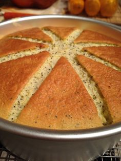 Lemon poppyseed chiffon cake