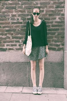 Undefined Cardigan, Undefined Dress, Converse