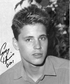 being in love with corey haim (before he got weird looking)