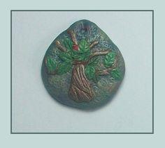 hayat ağacı, kolye ucu, harika keskin tarafından yapılan polimer kil, el yapımı, takı,