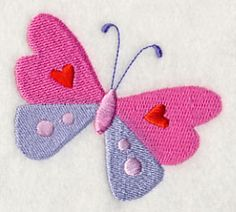 Butterfly Kisses - Butterfly 2 design (H9888) from www.Emblibrary.com