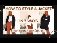 Style a Black Coat in 5 Ways [Marcellamoda Modest Outfit Ideas] | #shorts - YouTube