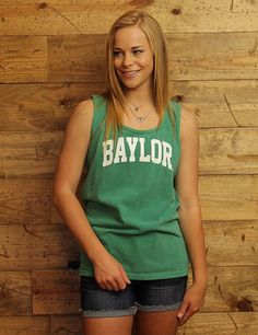 Hang out all summer long in this cool grass-colored Comfort Colors Baylor tank!