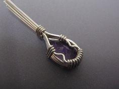 ワイヤーラップのトップの作り方♪ ( 工芸 ) - ふみろぐ - Yahoo!ブログ Wire Wrapping, Handmade Jewelry, Pendant Necklace, Beading Projects, Witch, Workshop, Accessories, Handmade Necklaces, Ear Rings