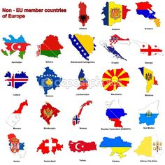 Non-EU countries flag maps