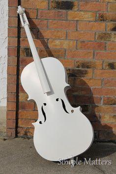 Creamy white cello