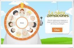 """""""La ruleta de las emociones"""" es un bonito juego que sirve a los niños para reconocer las emociones e influir en la organización de la conducta. Pertenece al proyecto Even Better para facilitar la enseñanza de emociones y habilidades sociales a niños con síndrome de Asperger y otros trastornos del continuo autista, aunque es útil para todo tipo de niños. Online Gratis, Youtubers, Classroom, Chart, Map, Html, Anna, Delaware, Ideas"""