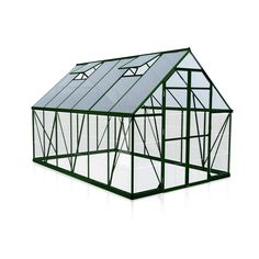 Palram Balance Green Polycarbonate Greenhouse is an ideal combination of sunlight transition, heat insulation and safety for all your gardening needs. Polycarbonate Roof Panels, Polycarbonate Greenhouse, Commercial Greenhouse, Sliding Panels, Floor Framing, Water Collection, Room To Grow, Flooring Options, Internal Doors