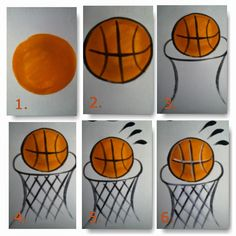 Easy step by step instructions for how to paint a basketball with a hoop for cheek art. Great for school carnivals, sporting events, or sport themed parties. By Fancy Faces of Rochester. Basketball Drawings, Basketball Posters, Basketball Art, Xavier Basketball, Street Basketball, Basketball Tickets, Basketball Girlfriend, Basketball Clipart, Basketball Tattoos