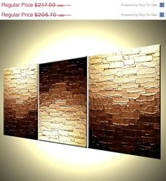 Original Bronze Metallic Textured PAINTING Abstract Gold Art By Lafferty Three MINI Canvases Labor Day Sale Abstract Art Abstract Art Bronze Canvases Day gold Labor Lafferty Metallic MINI Original Painting sale Textured 3 Canvas Paintings, Canvas Art, Original Paintings, Three Canvas Painting, Original Art, Mini Toile, Abstract Canvas, Painting Abstract, Painting Art