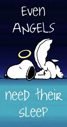 Even Angels need their Sleep!