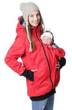 4in1 Tragejacke Umstandsjacke aus Concordia Shell und Fleece.   * top innovative Tragejacke in höchster Qualität aus Shell Concordia und leichtem, atmungsaktivem Fleece * modische Schwangerschaftsjacke dank des zugefügten Schwangerschaftseisatzes * Trageeinsatz verwandelt die Jacke im Handumdrehen in eine schützende Tragejacke * Sie können Ihr Baby auf dem Bauch oder auf dem Rücken tragen.