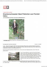 Bild.de vom 21.03.2012 - Krankenschwester lässt Patienten aus Fenster fallen - Rechtsanwaltskanzlei Sabrina Diehl
