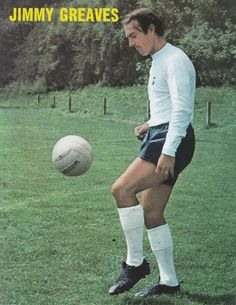 July 1969. Tottenham Hotspur and England inside forward Jimmy Greaves.