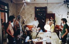 Filming the Texas Chainsaw Massacre.