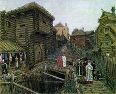 Выход боярыни (боярыня, княгиня). 1909. Васнецов Аполлинарий Михайлович (1856-1933)