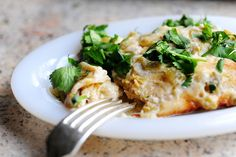 White Chicken Enchiladas by Ree Drummond / The Pioneer Woman  Made these for dinner - Amazing! cheese dips, white chicken chili, pioneer woman, food, rotisserie chicken, pioneer women, chip dips, dinner tonight, white chicken enchiladas