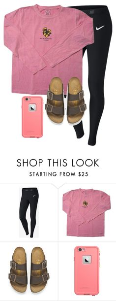 """Could Friday come ANY slower!"" by simplesouthernlife01 ❤ liked on Polyvore featuring NIKE and Birkenstock"