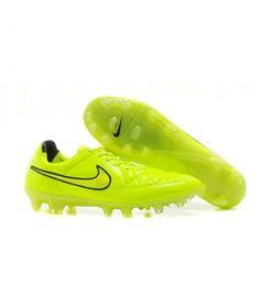 Acheter Nike Tiempo Legend V FG Chaussure de football sol dur pour Homme Vert Hyper Punch pas cher en ligne 83,00€ sur http://cramponsdefootdiscount.com