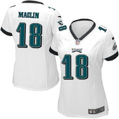 Womens Nike Philadelphia Eagles #18 Jeremy Maclin Game White Jersey $69.99