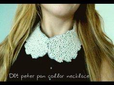 ✂ DIY - peter pan collar necklace - YouTube