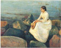 에드바르드 뭉크 - 여름밤:해변가의 잉게