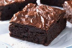 Triple Chunk Brownies with Chocolate Frosting. Triple Chunk Brownies with Chocolate Frosting are made with one simple and healthy ingredient. Triple Chunk Brownies with Chocolate Frosting a little lighter. Baking Recipes, Cake Recipes, Dessert Recipes, Flour Recipes, Vegan Recipes, Just Desserts, Delicious Desserts, Egg Free Desserts, Yummy Food