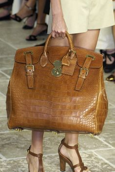 Ralph Lauren...Is this not gorgeous? I LIVE for a large handbag!