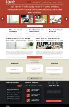 Pixel perfect business and portfolio style premium WordPress theme from Themes Kingdom