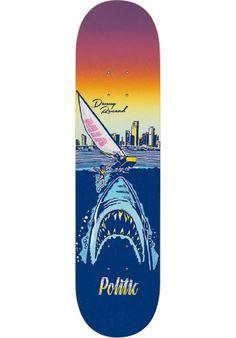 Politic-Skateboards Renaud-Shark, Deck, multicolored Titus Titus Skateshop #Deck #Skateboard #titus #titusskateshop