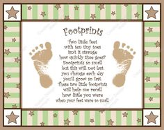 Twinkle Little Star Baby's Footprints with Poem | eBay