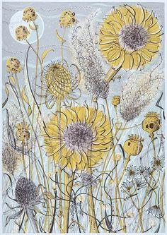 Autumn Garden, Norfolk - Angie Lewin