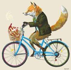 Fox Goes To Tea Art Print.