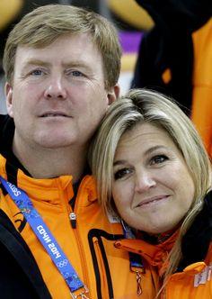 Guillermo y Máxima de Holanda en los Juegos Olímpicos de Invierno