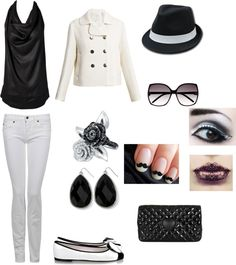 Black and White Party Casual, created by alliecatluvzherfriends on Polyvore