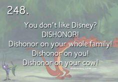 you don't like disney?!