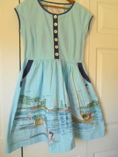 Vintage cotton embroidered Sun Dress
