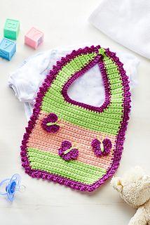 Butterfly bib ~ free pattern ᛡ