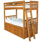 Found it at Wayfair - Convertible Twin over Twin Six Drawer Bunk Bed