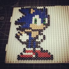 Sonic perler beads by 8bitheroau
