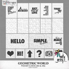 "Geometric World ""Pocket Cards"" by Paty Greif"
