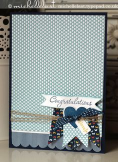 Congratulations Card using Stampin' Up! supplies by Michelle Last