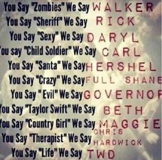 You Say Sexy We Say Daryl! TWD. The Walking Dead. Daryl Dixon. Rick Grimes. Carl Grimes. Hershel Greene.