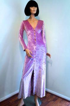 Late 1960s shimmering velvet plush maxi by VicAndBertieVintage