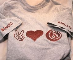 Peace Love Bingo T-shirt - Lucky Bingo Shirt - Bingo Fan - Bingo Gift - Bingo Lover - Bingo Lover Gift by BlueKitty2000 on Etsy