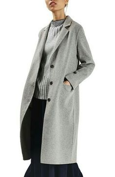 Shop for Women's Snap Button Three-Quarter Coat by Topshop at ShopStyle. Cute Winter Coats, Winter Coats Women, Coats For Women, Blazers For Women, Wool Coat, Sweater Weather, Mantel, Style Me, Topshop