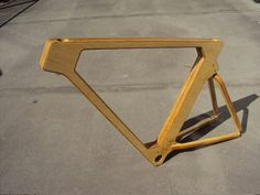 "Flatspotting - Wooden Bicycle Frames: ""Furniture On Wheels,"" or . Wooden Bicycle, Wood Bike, Velo Design, Bicycle Design, Dirt Bike Helmets, Bicycle Safety, Bike Photography, Pedal, Bike Storage"